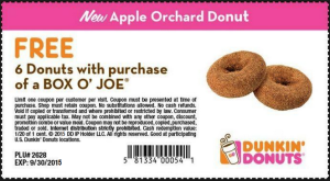 Dunkin Donuts Coupons - Printable free - orchard donut