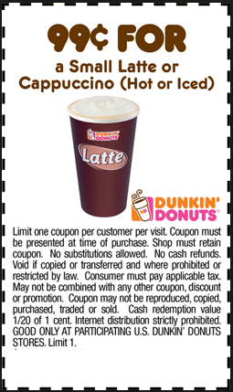 picture regarding Dunkin Donuts Coupons Printable identify Dunkin doughnuts discount codes printable 2018 / Chase coupon 125