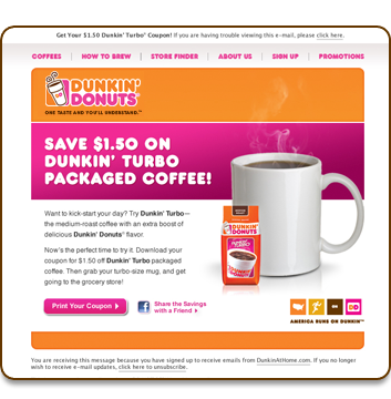 Dunkin donuts discount coupons