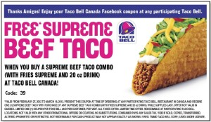 picture relating to Taco Bell Printable Coupons identify Taco Bell Discount coupons Printable Discount codes On-line