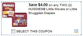 Huggies Nappies Diapers coupons - Ongoing (2)
