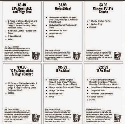 KFC Fast Food Restaurants coupons - codes (5)