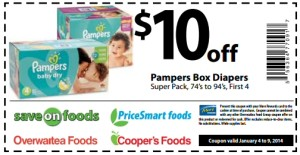 Pampers-Coupon Ongoing free - 10.00 save