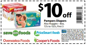 Pampers Coupons Printable - Diaper and baby food
