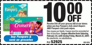 Pampers Coupons Printable $10.00 Off Coupons