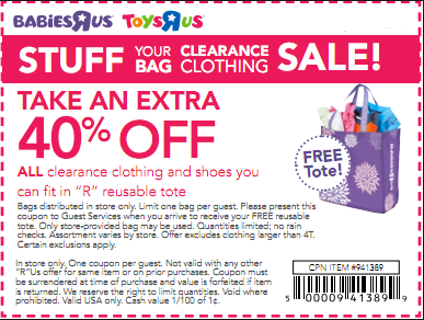 photograph about Toys R Us Printable Coupon identified as Printable coupon for toddlers r us : What towards perspective inside seattle wa