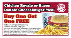 PrintableBurger King Fast Food Restaurants Coupons (10)