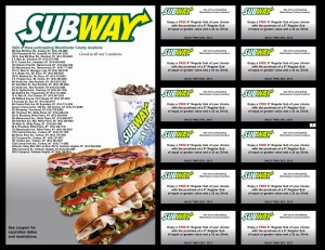 Subway coupons and codes valid new SUBway Restaurant (3)