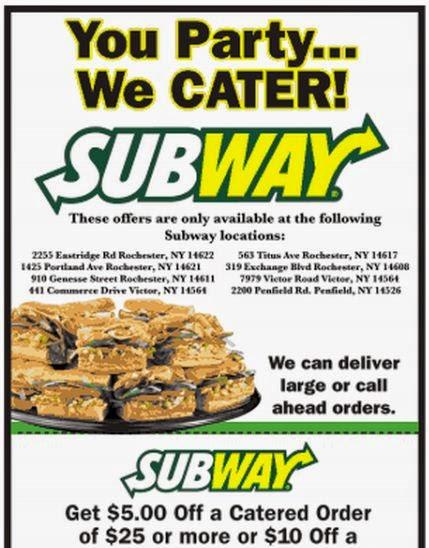 Subway coupons and codes valid new SUBway Restaurant (4)