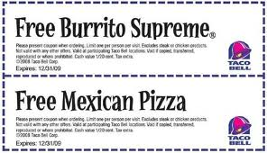 Taco-Bell-Coupons-Taco Bell Fast Food Restaurants coupons