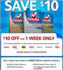 Tax software discount coupons