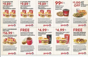 Wendys Valid Restaurants Coupons 2015 and 2016 ongoing coupons sheet buy one get one
