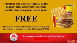 Wendys burger and drink Valid Restaurants Coupons 2015 and 2016 ongoing coupons  (3)