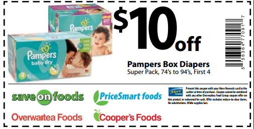 Free coupons for baby diapers