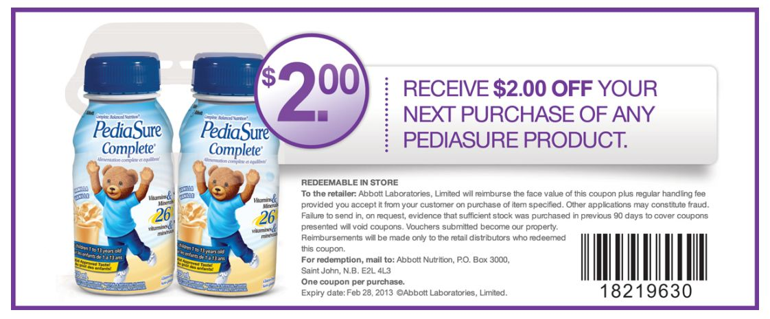 picture regarding Pediasure Printable Coupon called Pediasure sidekicks coupon codes printable 2018 : 3 bargains 1 working day sale