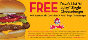free Wendys Valid Restaurants Coupons 2015 and 2016 ongoing coupons  (5)