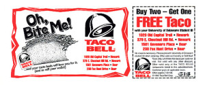ongoing Taco Bell Fast Food Restaurants coupons NEW
