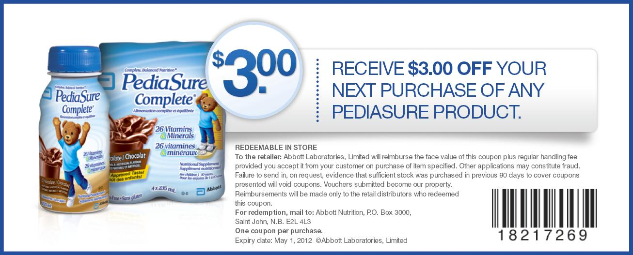 graphic relating to Pediasure Printable Coupon called PediaSure discount coupons codes Printable Discount codes On the web
