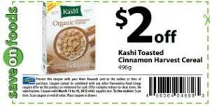 Kashi cereal box coupon - free ongoing coupons