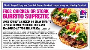 taco-bell Taco Bell Fast Food Restaurants coupons wraps