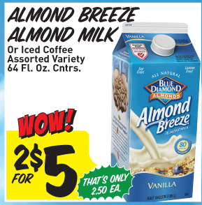 Almond Milk and Organic valley coupon