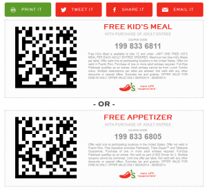 Chilis Coupons - Printable and Codes free (1)