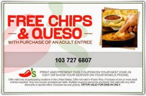 Chilis Coupons - Printable and Codes free (2)