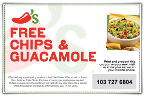 Chilis Coupons - Printable and Codes free (3)