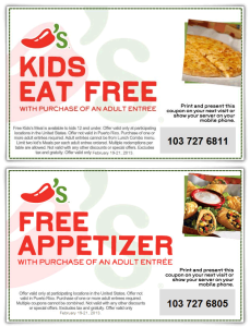 Chilis Coupons - Printable and Codes free (6)