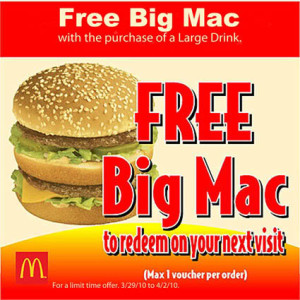 mcdonalds big mac coupon printable coupons online. Black Bedroom Furniture Sets. Home Design Ideas