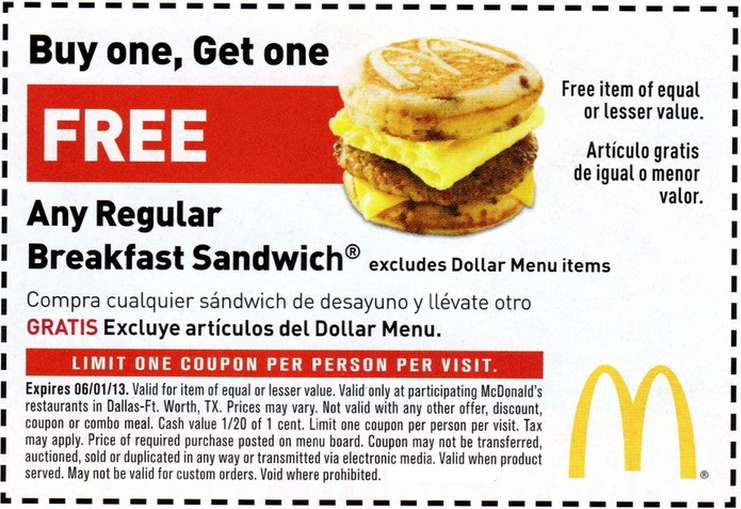 Aug 09,  · Free printable McDonalds coupons give you special discounts on the Big Macs, Quarter Pounders, and Happy Meals you get every day at the world's most famous drive-through burger joint. People might think McDonald's meals are plenty cheap enough, since their combos tend to be among the cheapest in the fast food business.