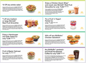 McDonalds Menu Coupons - Printable (2)