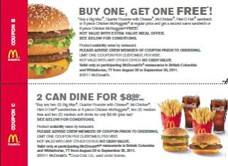 NEW McDonald's Sandwich Coupons (2)
