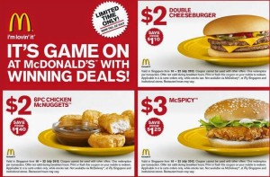 NEW McDonald's Sandwich Coupons (3)