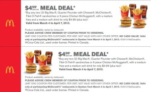 NEW McDonald's Sandwich Coupons (4)