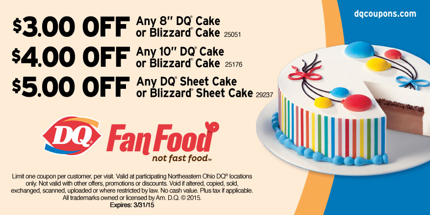 Dairy Queen Cake Coupons