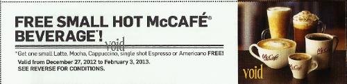Mccafe printable coupons 2018