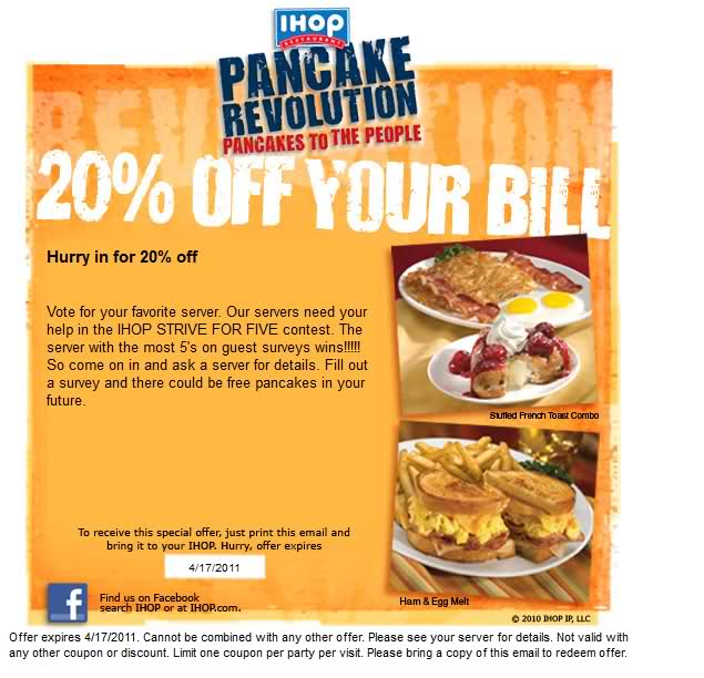 Sign up and get a coupon from iHOP for a free meal on your birthday! There seems to be hundreds of coupons coming my way for my birthday. Just sign up and once your.