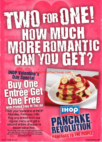 iHop Printable coupons 2 for one coupon pink