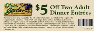 Olive Gardens New Coupon Printable Coupons Online
