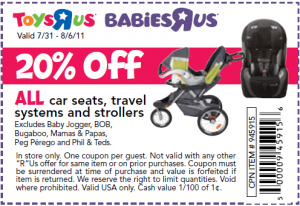 photo relating to Babies R Us Coupons Printable called Infants R Us Coupon codes Stroller for babies (4) Printable