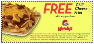 Canadian Coupon for Wendys fast food  (3)