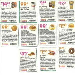 Dunkin Donurs Coffee Coupons and Donuts (1)