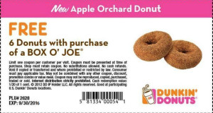 Dunkin Donuts Promo Codes Coupons (5)