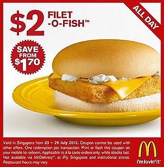 MCDONALDS FREE COUPON - Sandwich coupon filt o fish burger and french fries (1)