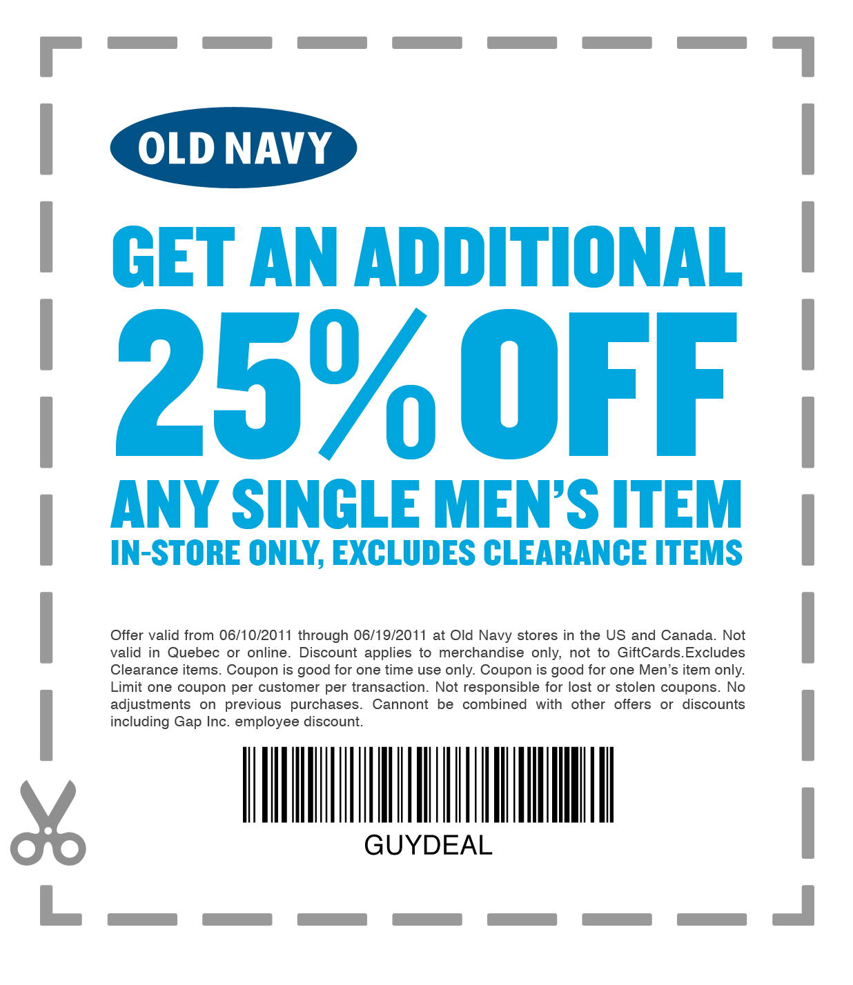 Discount coupons for old navy