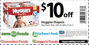Printable baby pulup coupons-young toddler