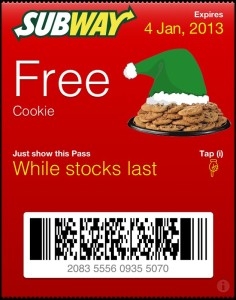 Register for SUBWAY Mobile Coupon Codes (2)