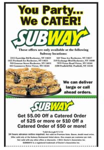 Subway Mobile Coupon Codes - For Menu Items  (3)