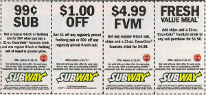 Subway-Printable-Coupon BOOKLET NEW VALID